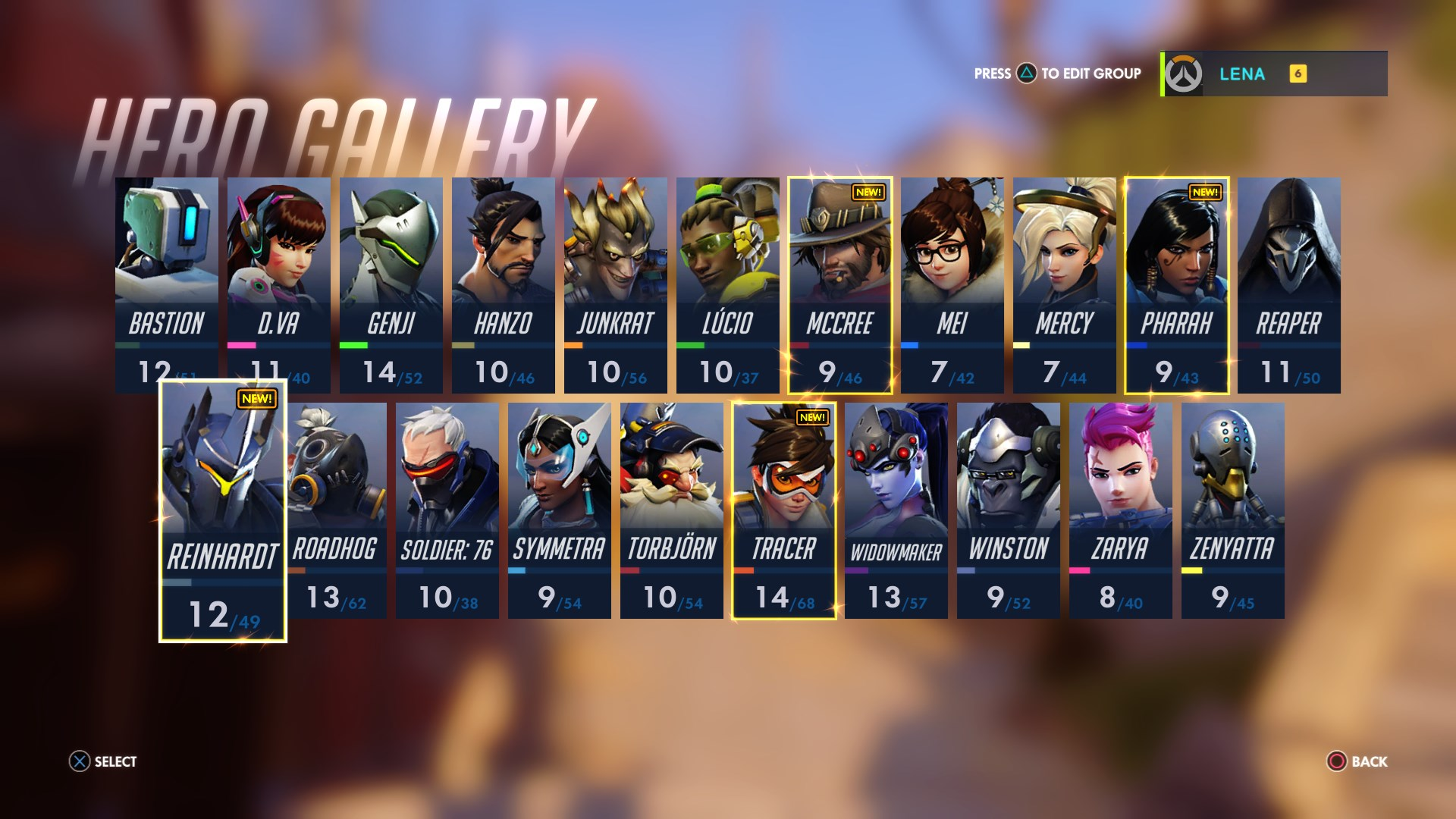 The character select screen from 'Overwatch'