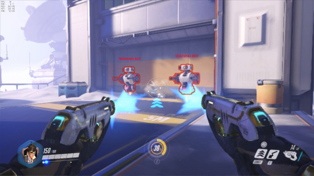 A low quality screenshot of Overwatch on integrated graphics