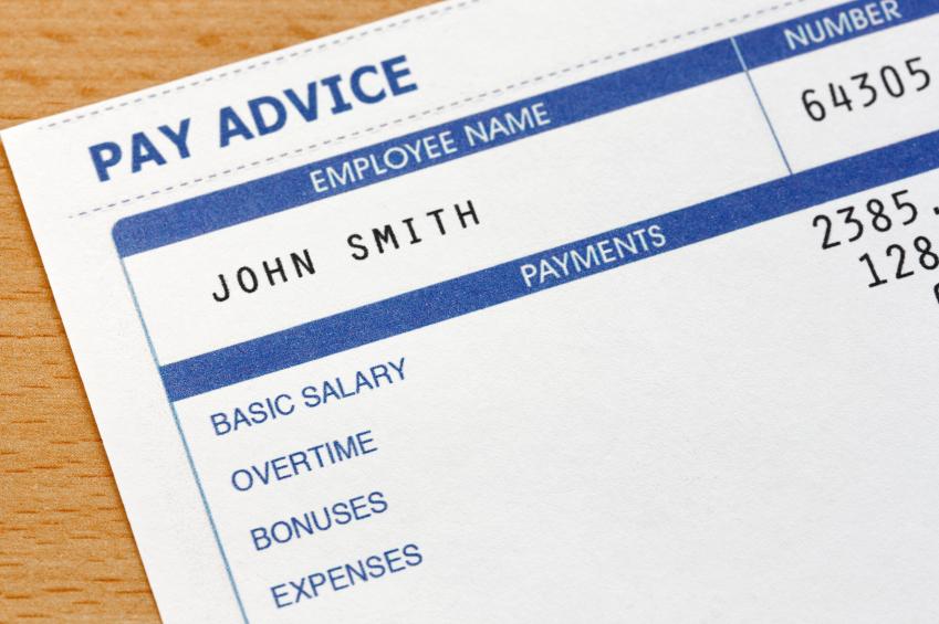 an employee pay slip