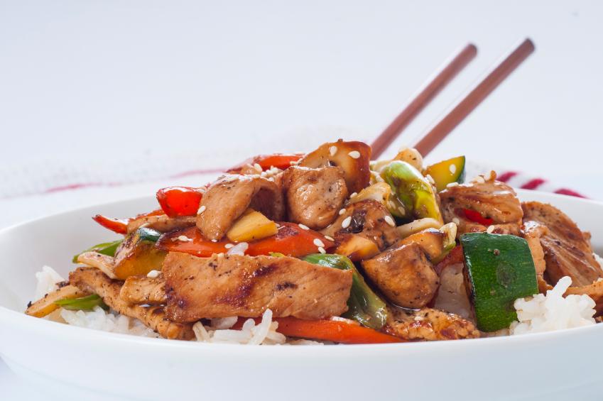 dish of pork stir-fry