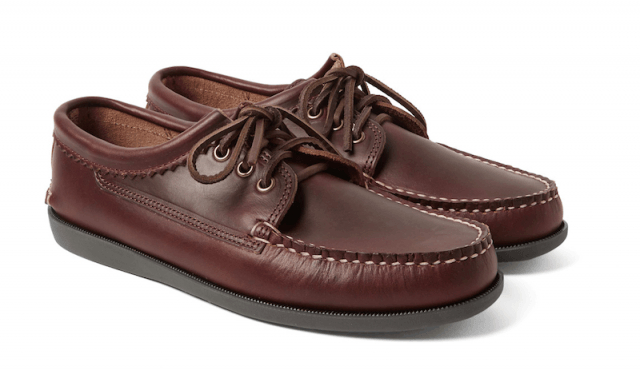 Quoddy leather derby shoe
