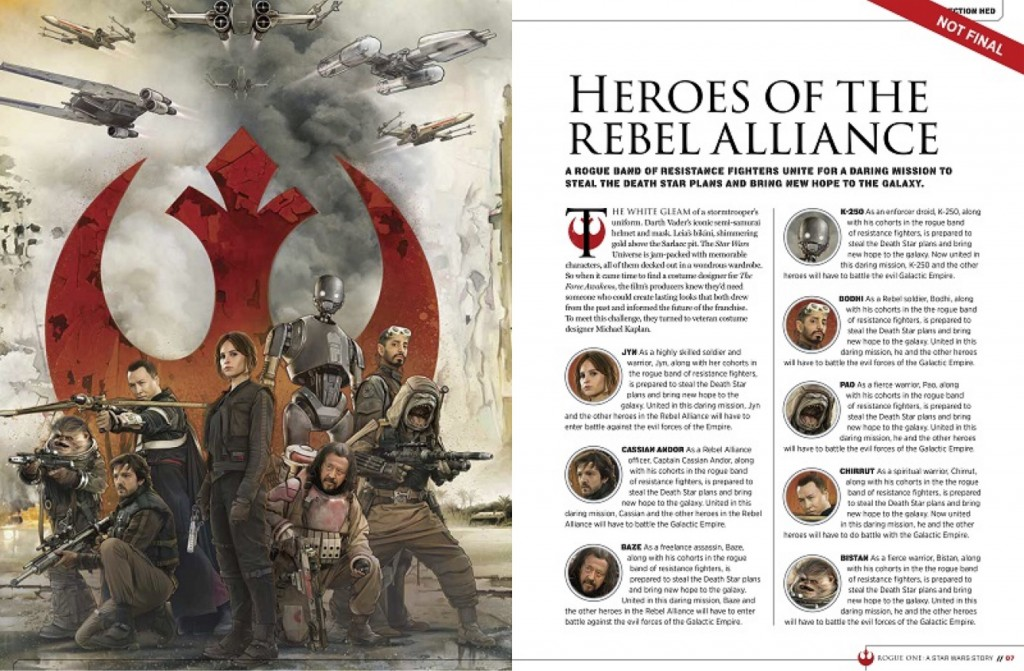 Rogue One Characters, Star Wars