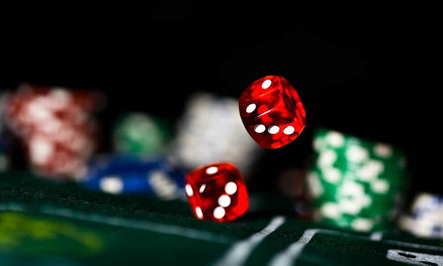 two red rolling dice