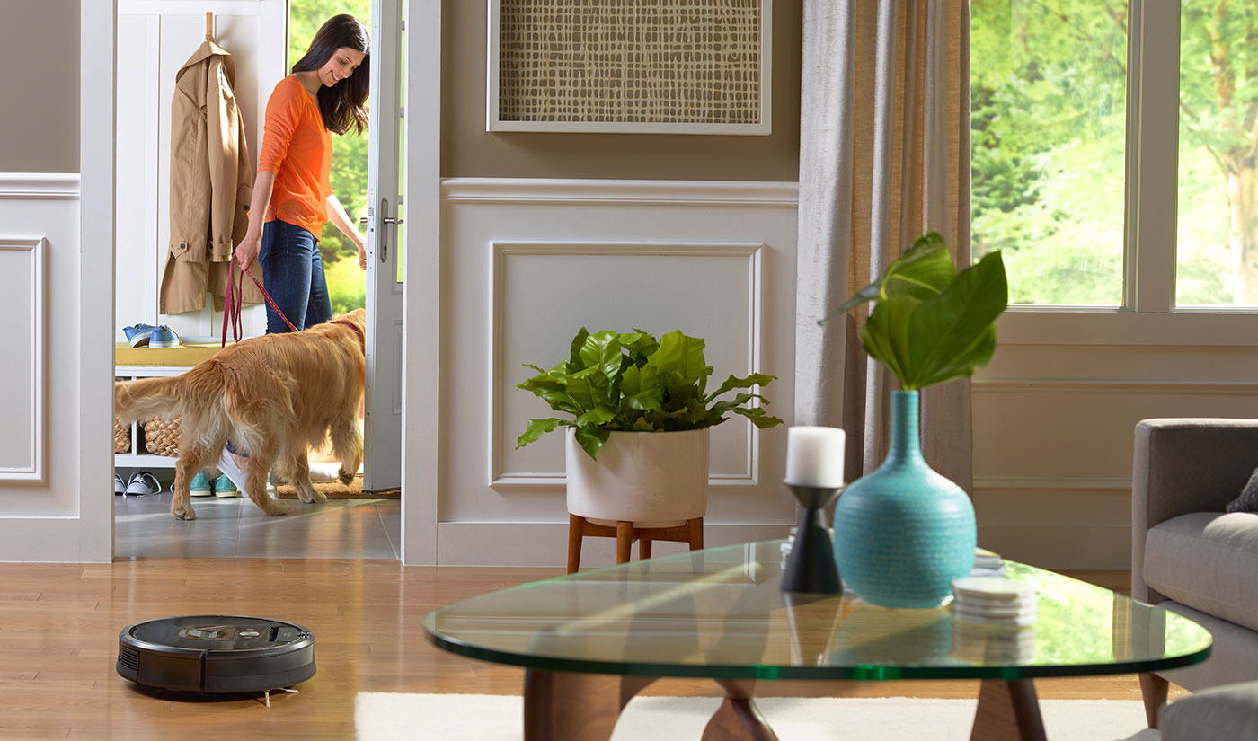 The Roomba is an automatic robot vacuum cleaner