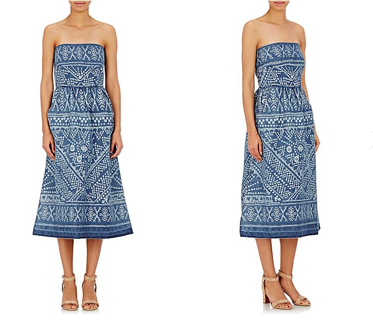 SEA bleached denim dress - new prints and patterns