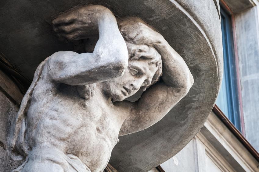 Sculpture of Atlant