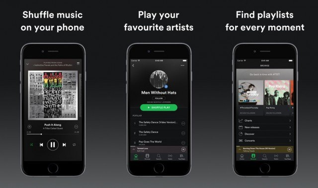 Spotify on iOS - radio app