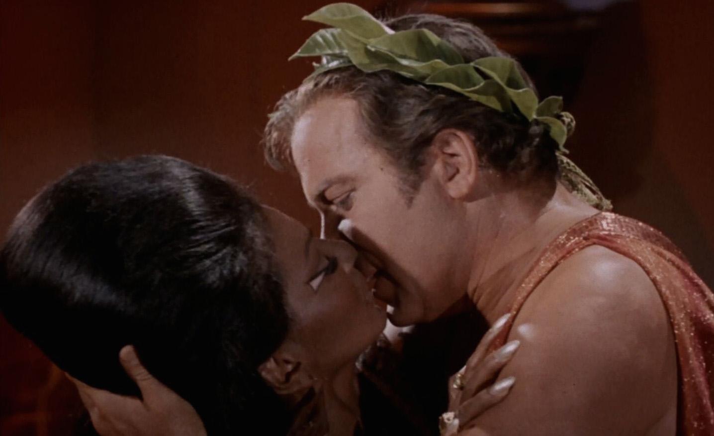 The first interracial kiss on TV on Star Trek
