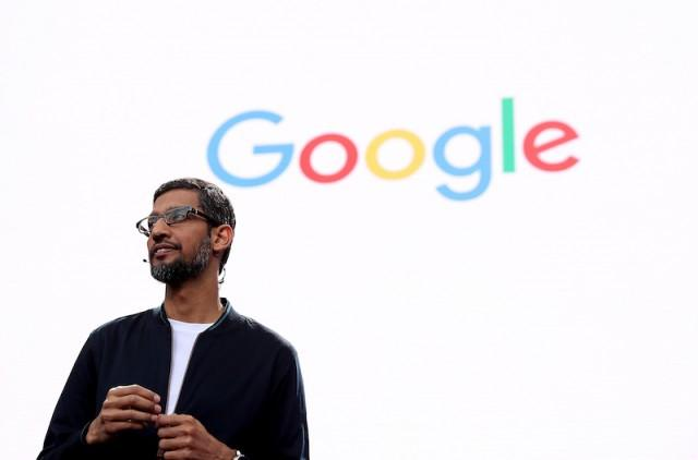 Google CEO Sundar Pichai speaks during Google I/O 2016