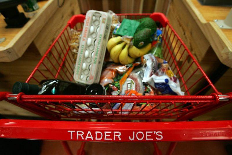shopping cart at Trader Joe's