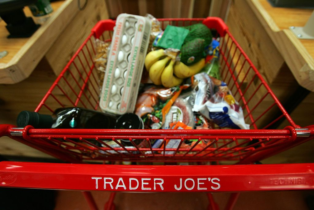 shopping cart at Trader Joe's