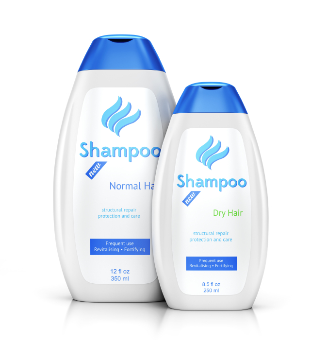 two bottles of shampoo