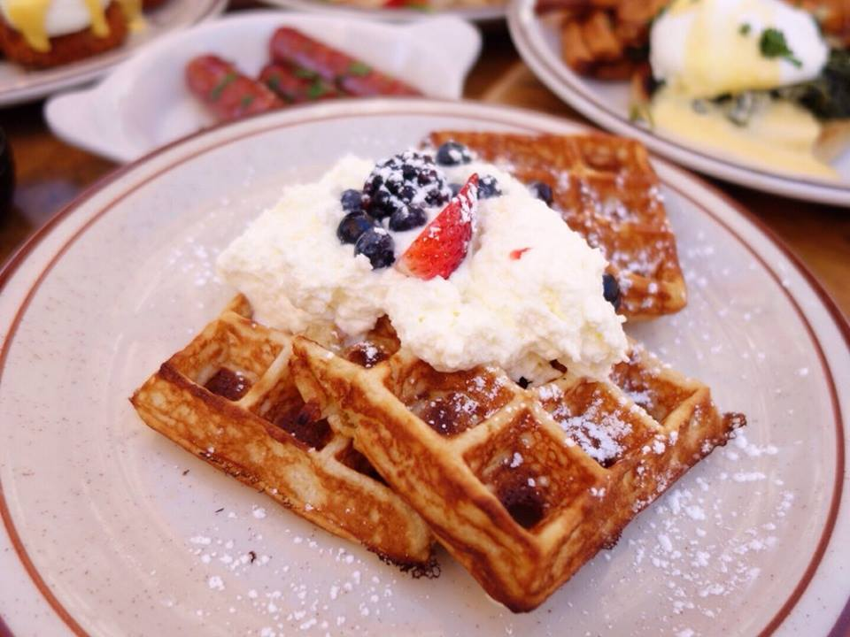 Waffles at The Beehive restaurant
