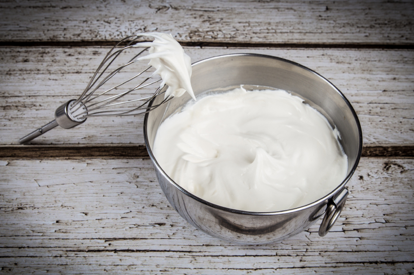 Homemade whipped cream for memorial day dessert