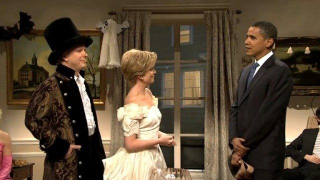Barack Obama made a cameo appearance in a 2007 'SNL' skit featuring Darrell Hammond and Amy Poehler as Bill and Hillary Clinton -- Donald Trump