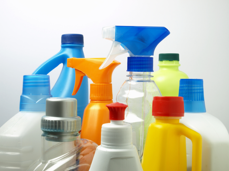A variety of cleaning products