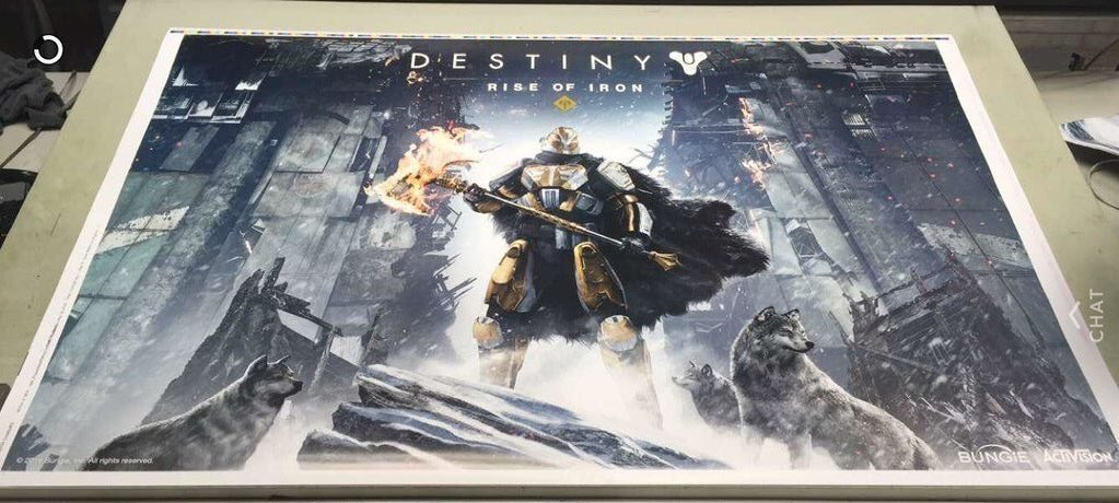 A leaked poster from the upcoming Destiny expansion Rise of Iron.