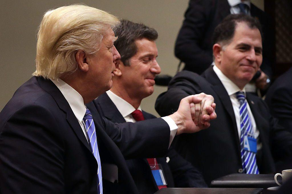 donald trump and michael dell