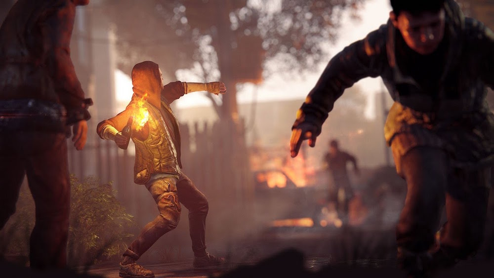 A rebel tosses a Molotov cocktail in Homefront: The Revolution