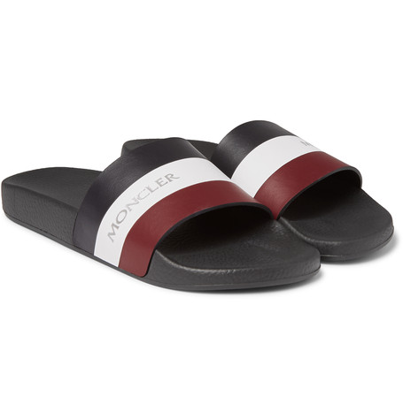 moncleer striped leather slipper