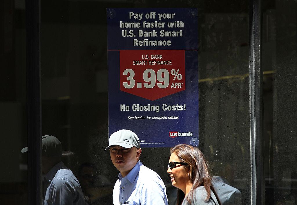 mortgage refinance sign