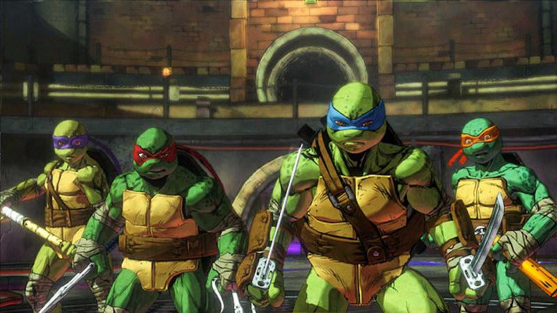 The Ninja Turtles gear up to fight in Mutants in Manhattan