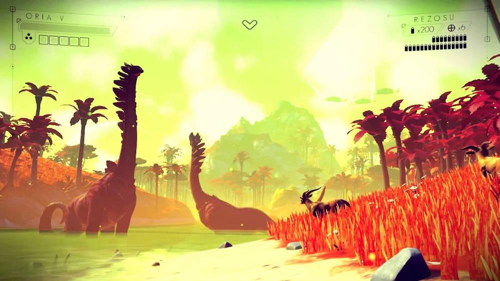 An alien planet in No Man's Sky.