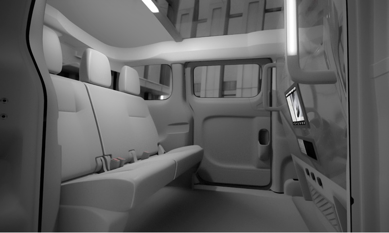 nv 200 taxi interior