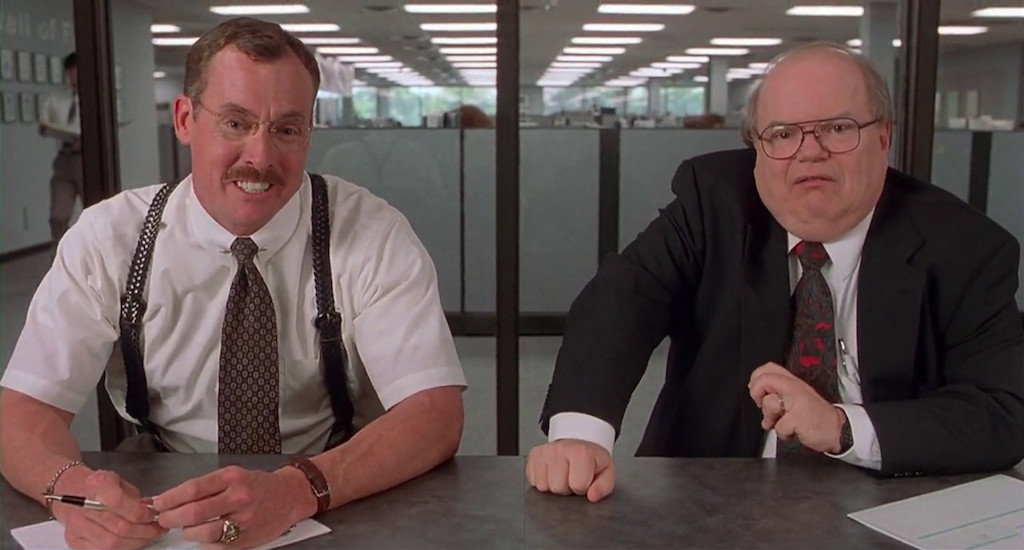 The productivity consultants from 'Office Space' appear pleased