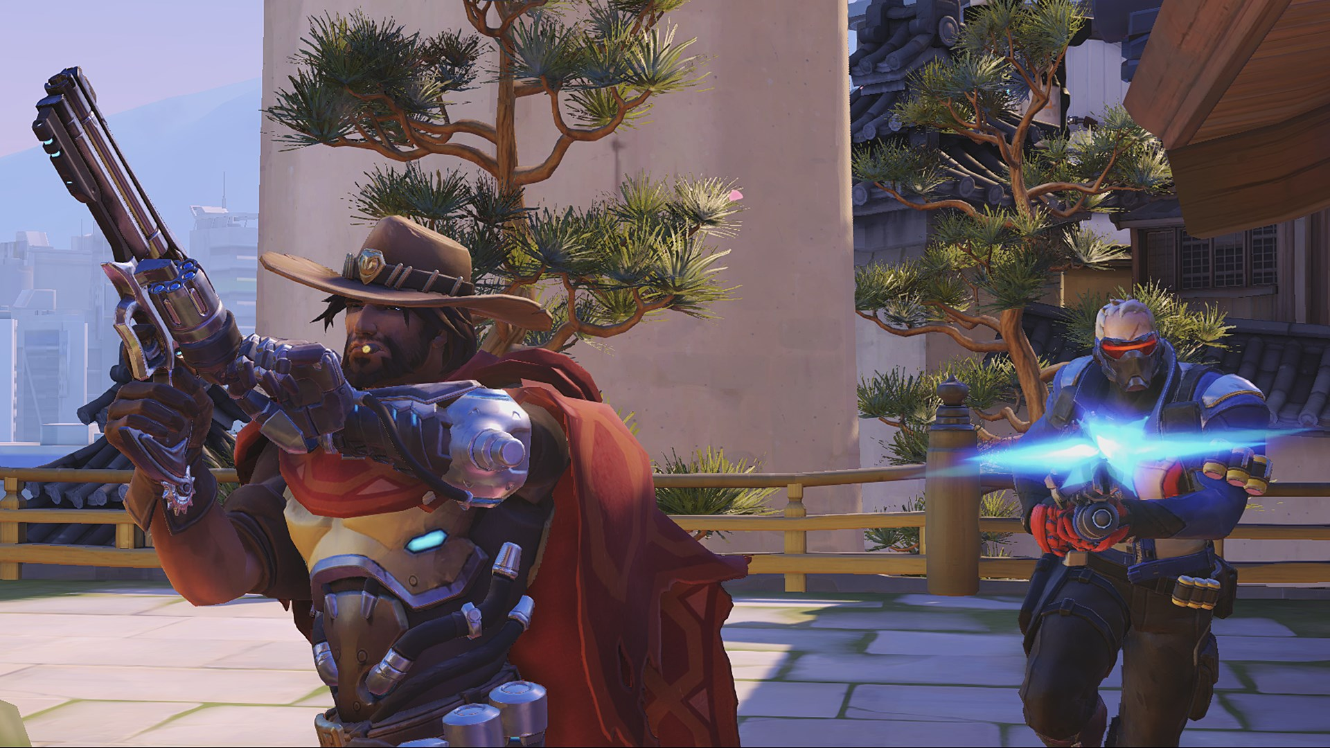 McCree and Solider 76 in Overwatch