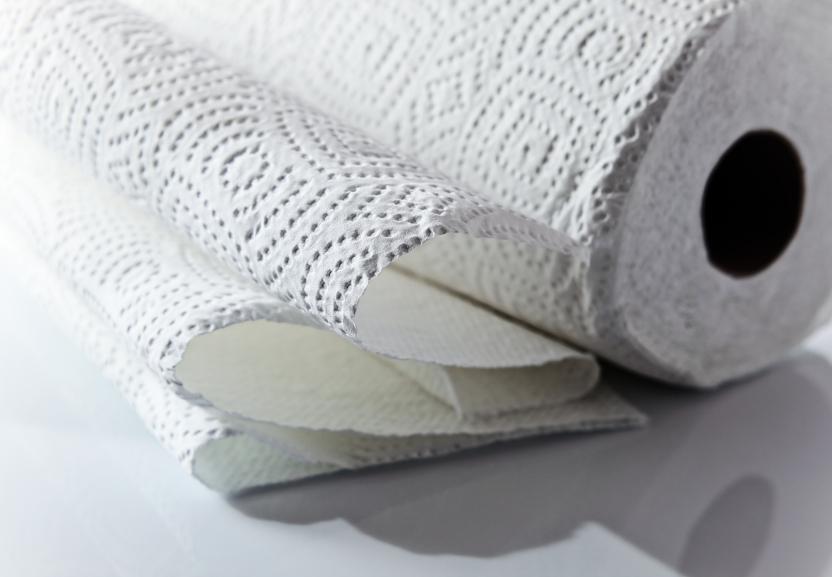 close up of paper towel