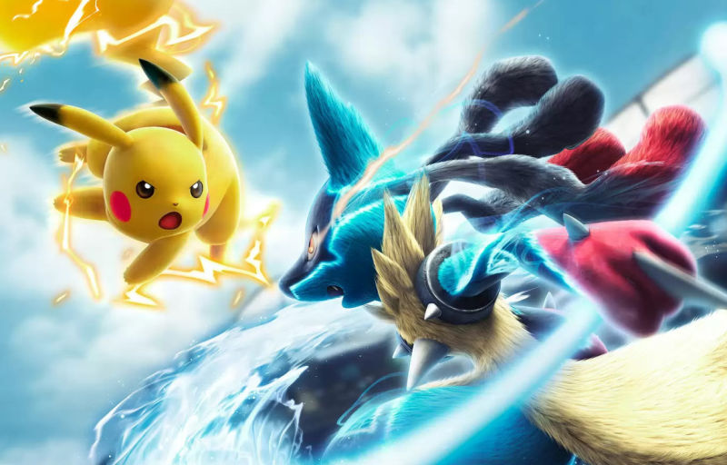 Pikachu engages in some heavy melee combat in Pokken Tournament
