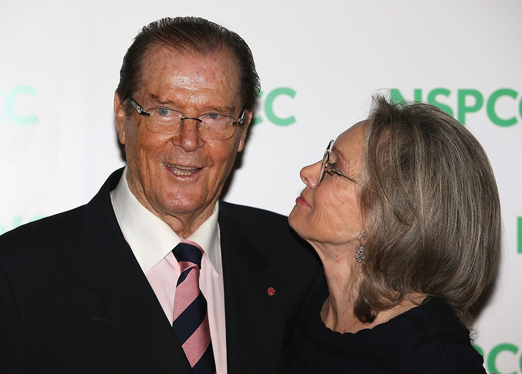 Roger Moore and wife Kristina Tholstrup attend an event in London