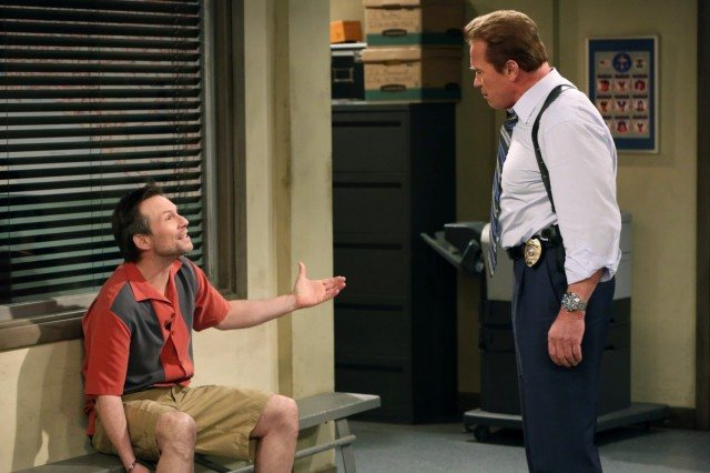 Christian Slater and Arnold Schwarzenegger appeared in the series finale of 'Two and a Half Men' -- Donald Trump