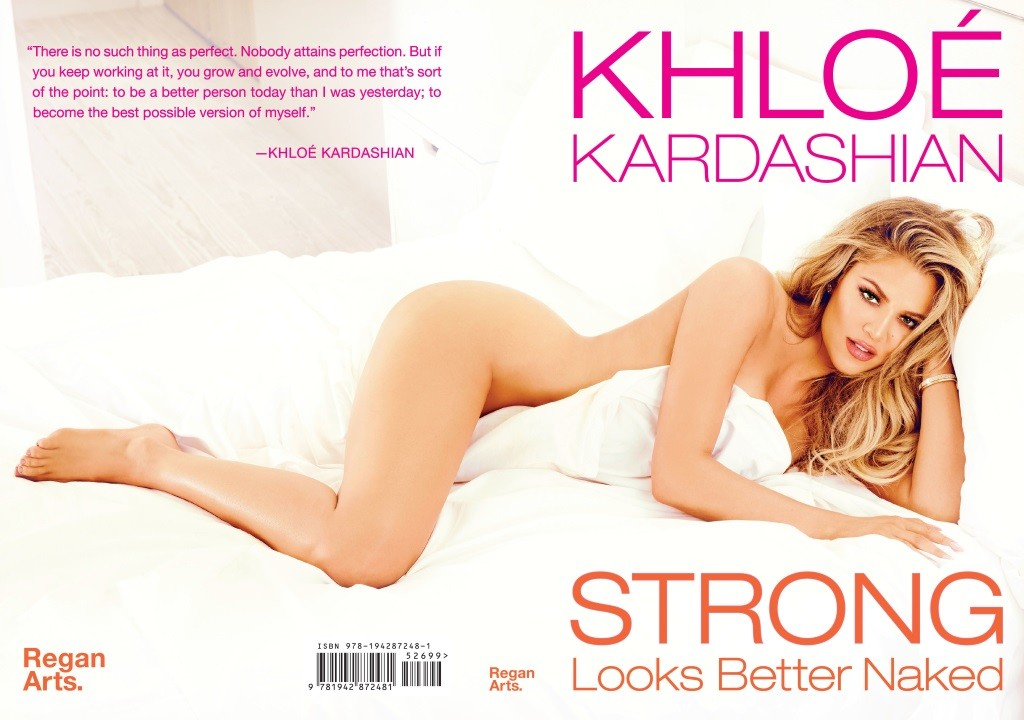 Khloé Kardashian book cover for Strong Looks Better Naked