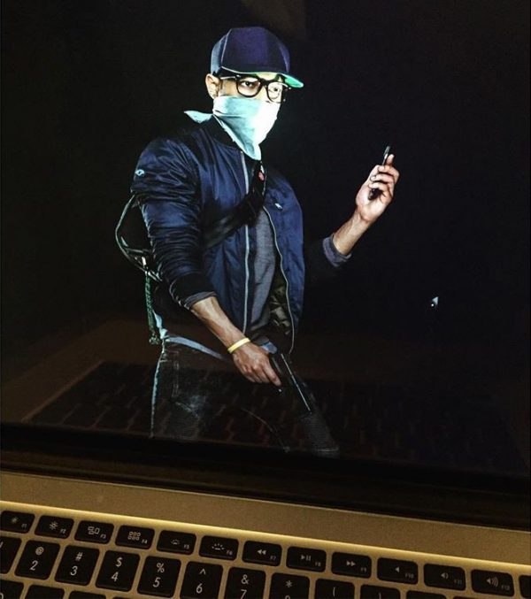 An image from the Instagram account of a motion capture actor reportedly working on Watch Dogs 2.