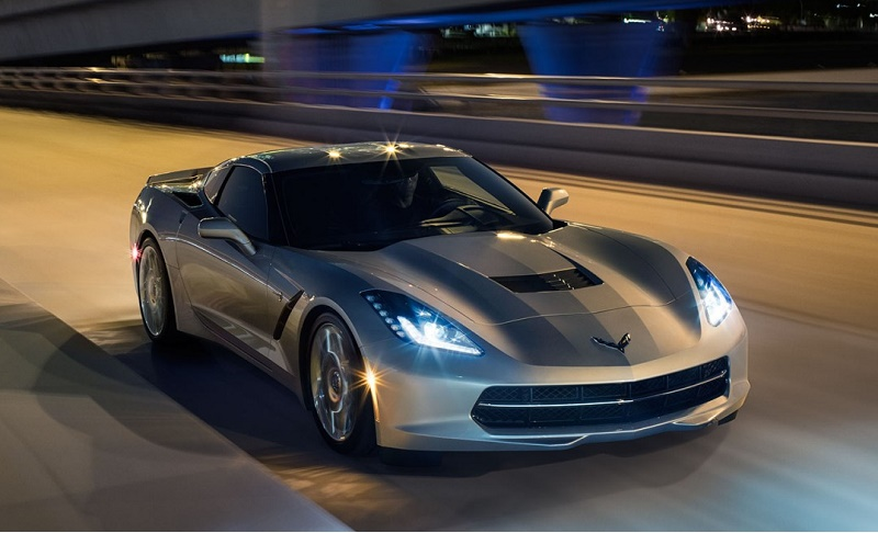 A silver 2016 Corvette Stingray