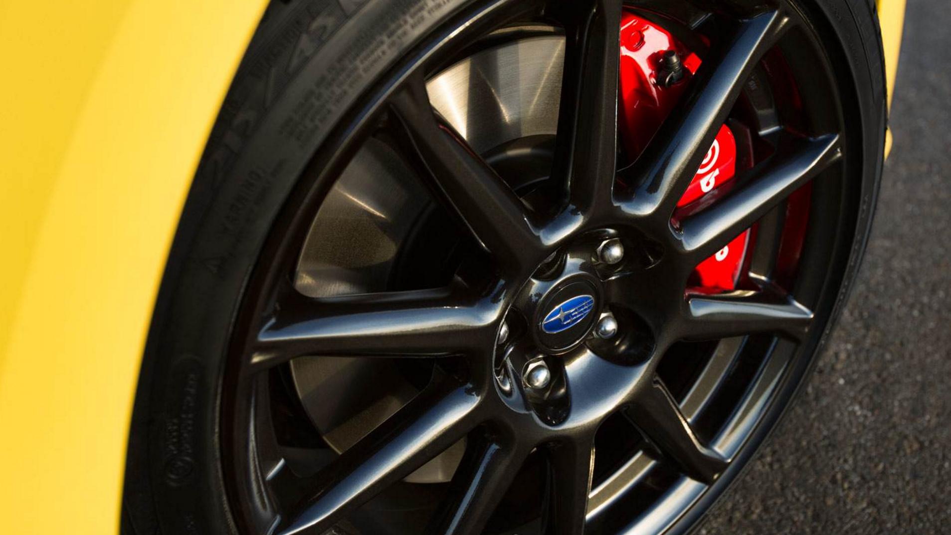 2017 Subaru BRZ Series.Yellow alloy rim