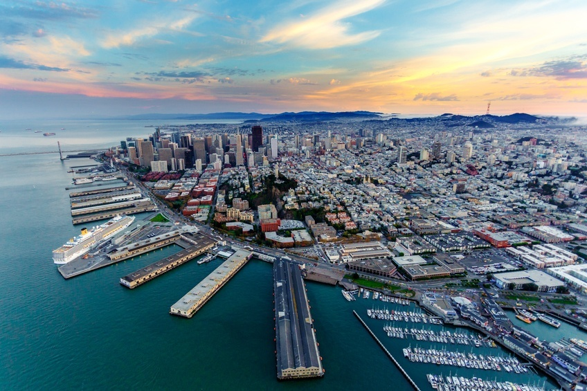Aerial view of San Francisco, California