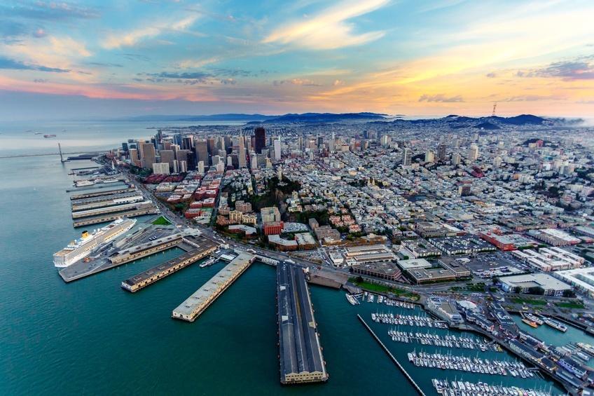 Aerial view of San Francisco, California
