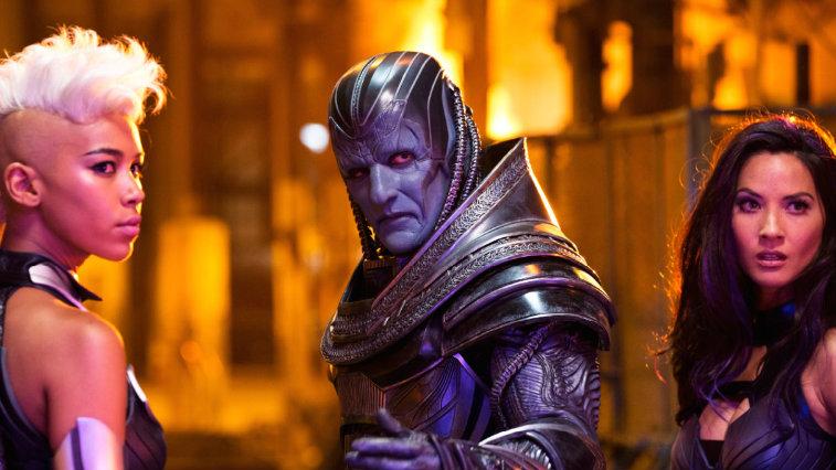 Alexandra Shipp, Oscar Isaac and Olivia Munn in X-Men Apocalypse
