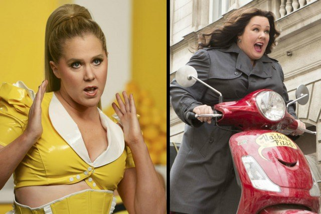 Amy Schumer in 'Inside Amy Schumer' and Melissa McCarthy in 'Spy'