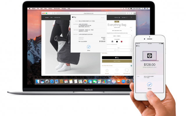 Apple Pay on the web in macOS Sierra