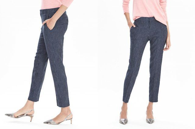 Banana Republic striped cropped trousers