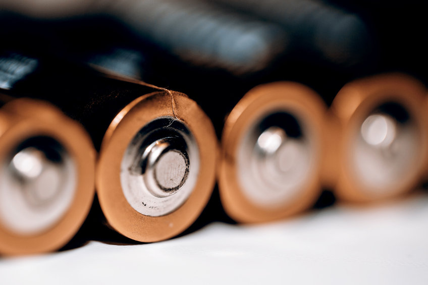close up of batteries