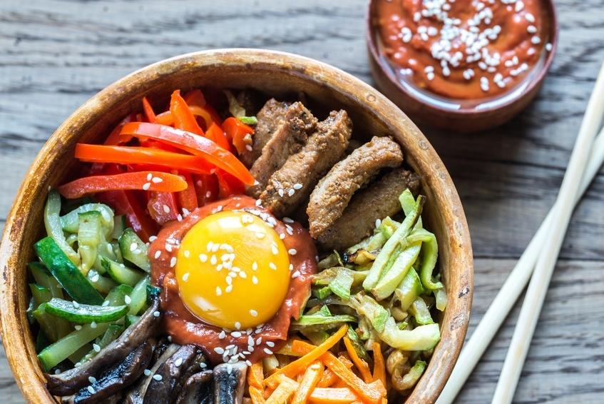 bibimbap in a bowl