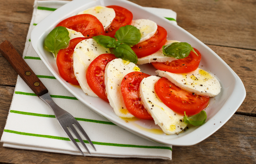 Caprese Salad in a tray