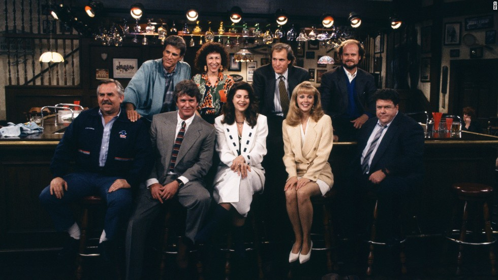 The cast of Cheers