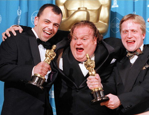 Chris Farley with Tyron Montgomery(L) and Thomas Stellmach(R)