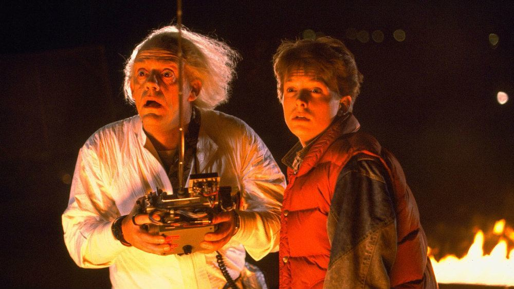 Christopher Lloyd and Michael J Fox in Back to the Future